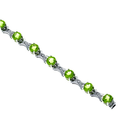 View Diamond and Peridot Bracelet