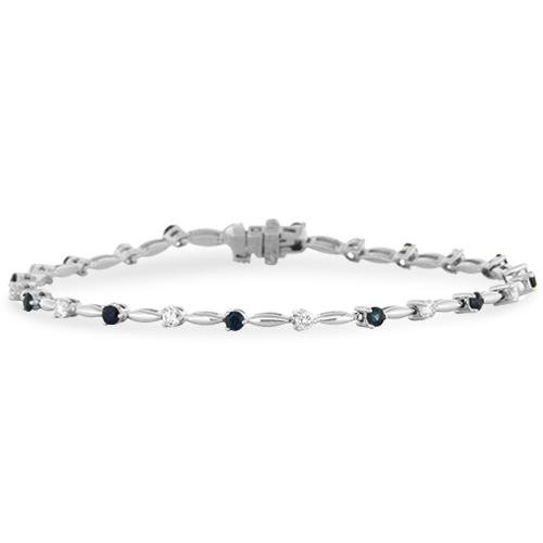 View Sapphire and Diamond Bracelet