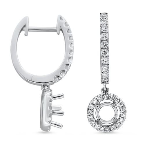 View Diamond Drop Earrings (0.50ct Center)