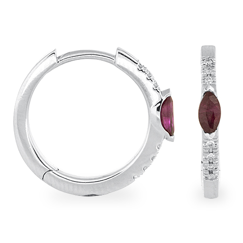 View Diamond and Ruby Earrings