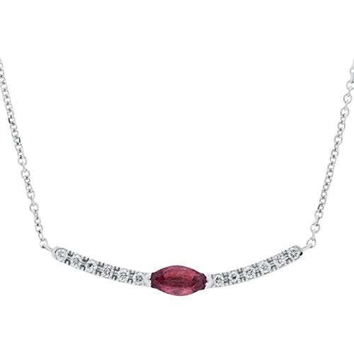 View Diamond and Ruby Necklace