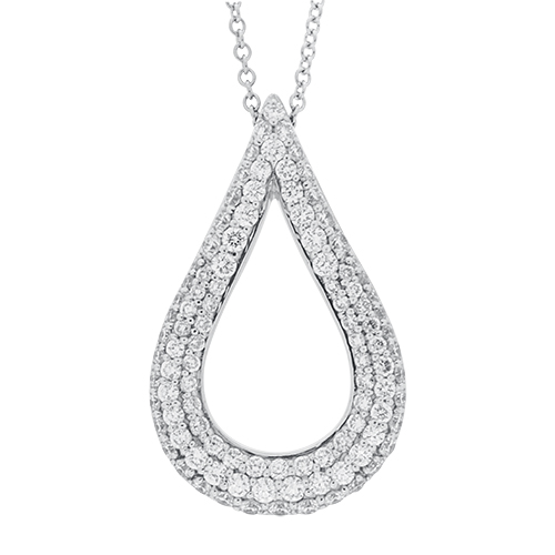 View Diamond Open Pear Necklace