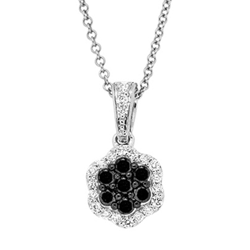 View Black and White Diamond Pendant With Chain