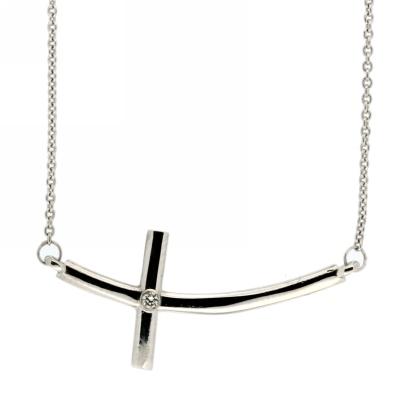 View Diamond Cross Pendant With Chain