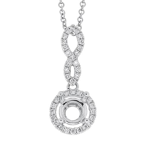 View Diamond Semi Mount Pendant With Chain