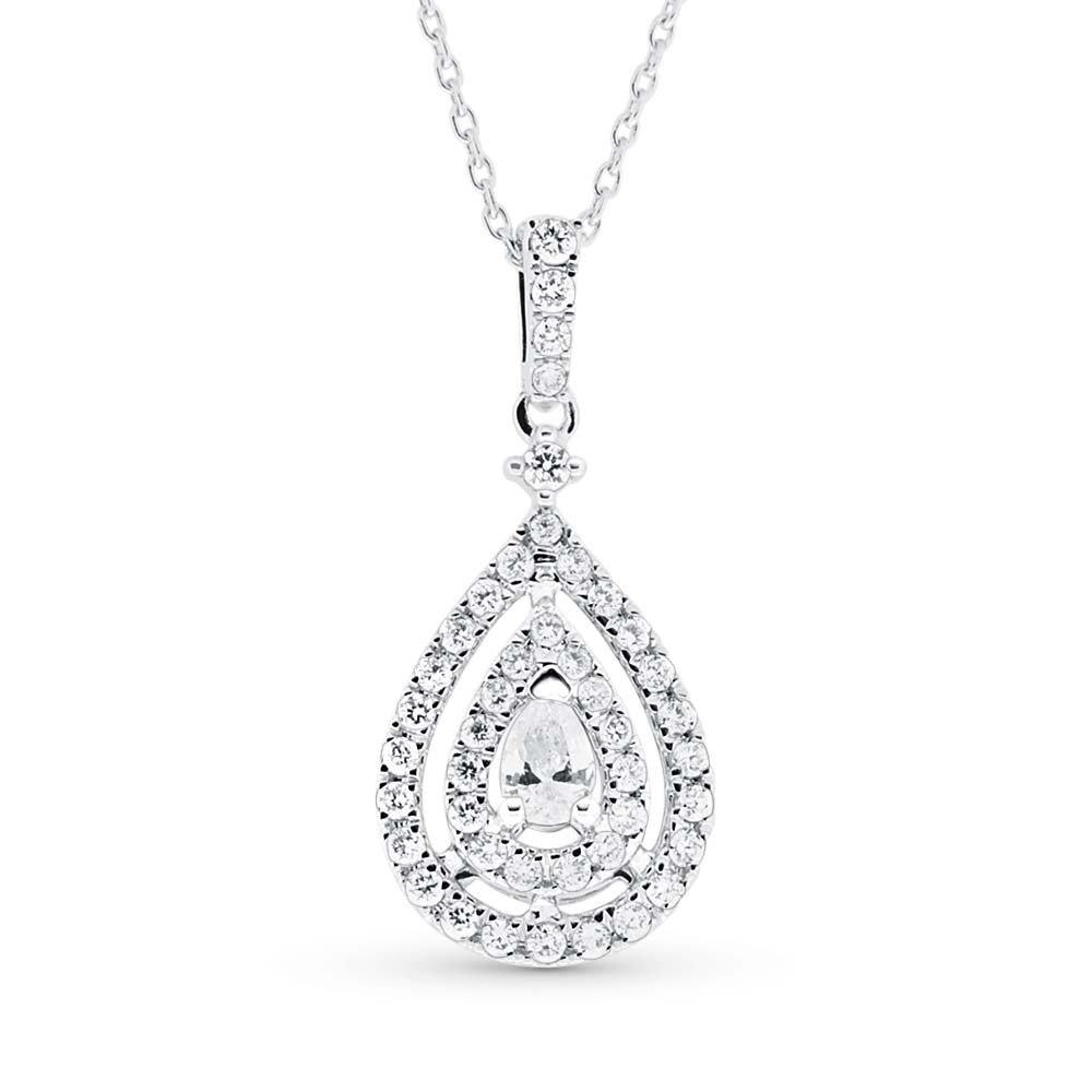 View Pear Shaped Diamond Pendant With Chain