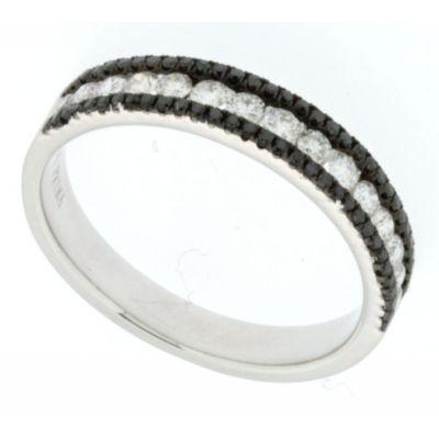 View Black and White Diamond Ring