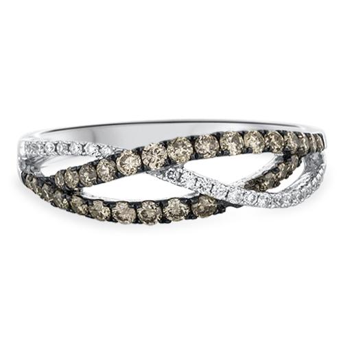 View Diamond and Brown Diamond Ring