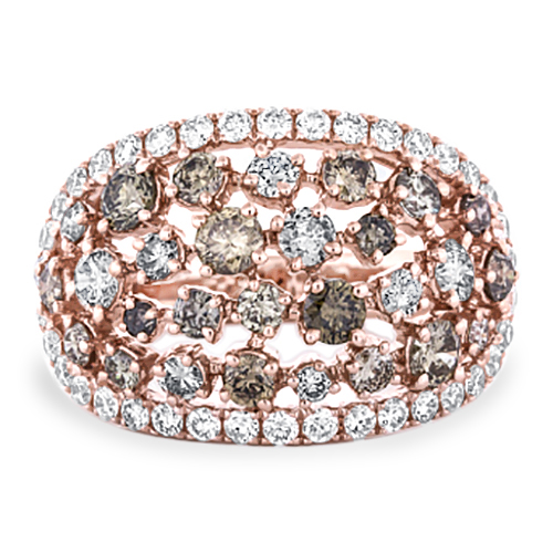 View Brown and White Diamond Ring