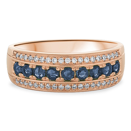 View Sapphire and Diamond Ring