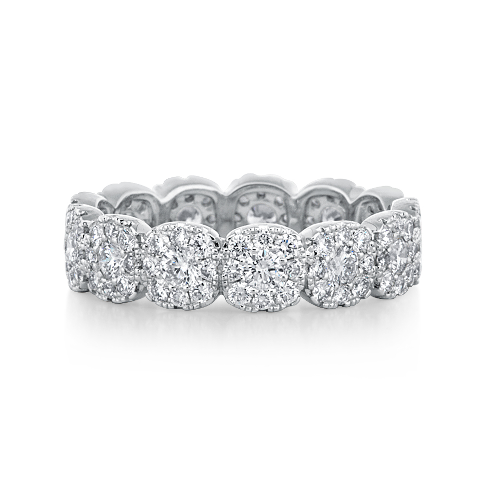 View Cluster Diamond Eternity Band