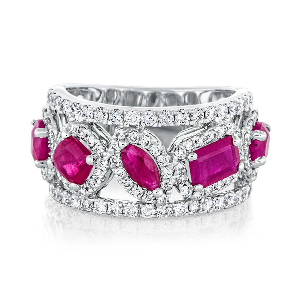 View Fancy Ruby and Diamond Ring