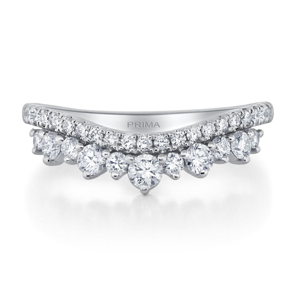 View Diamond Curved Band